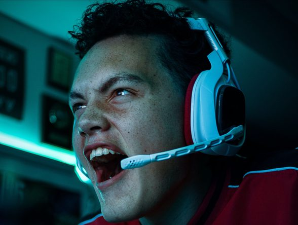 A photo of an engaged gamer